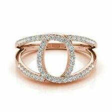NEW Size 7.5 14K Solid Rose Gold Oval  Genuine Diamond Ring 1/2ct. W/50 Diamonds