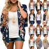 Women Floral Chiffon Shawl Kimono Cardigan Top Beach Shirt Cover Up Loose Blouse