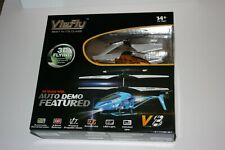 SYMA S107G & VIEFLY V8 RC METAL MINI HELICOPTERS 3 CHANNEL SET OF 2 NEW UNOPENED