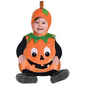 Baby Toddler Pumpkin Costume Childs Cutie Pie Halloween Kids Outfit Jack Lantern