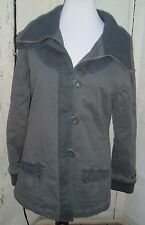 Fox Racing Girls Womens Jacket Gray Chevron Quilted Heavy Coat Winter Size XL