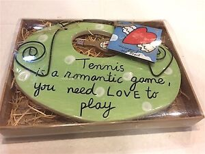 """SANDRA  MAGSAMEN  FOR SILVESTRI"""" TENNIS  IS A ROMANTIC GAME  YOU NEED LOVE TO PL"""