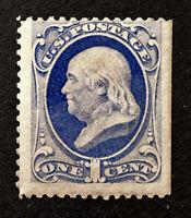 Scott US # 182 - 1879 Franklin 1 Cent; Mint Never Hinged; OG; SE; CV=$675