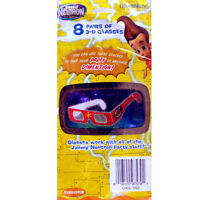 JIMMY NEUTRON 3-D GLASSES (8 pairs) ~ Birthday Party Supplies Favors Nickelodeon