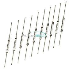 10Pcs MKA-14103 Tone Leads Glass N/O SPST Reed Switches 10-15AT 2 x 14mm White