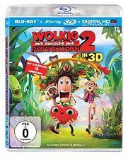 WOLKIG MIT AUSSICHT AUF FLEISCHBÄLLCHEN 2 (Blu-ray 3D + Blu-ray Disc) NEU+OVP
