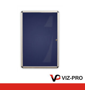 Viz Pro Indoor Lockable Tamperproof Notice Board . Felt Backing. Various Sizes