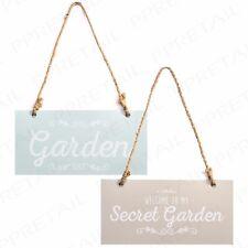 "2pc Metal Garden Hanging Plaque Decorative Gate Sign Home Gift Vintage 7"" X 3.5"""