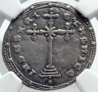 CONSTANTINE VII & ROMANUS II 945AD Silver Miliaresion Byzantine Coin NGC i81755