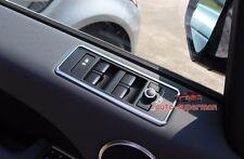 Matt chrome Door Window Switch panel frame cover trim Range rover sport 2014-17
