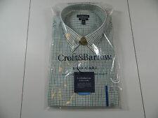 Croft & Barrow Easy Care Fern Green Dress Shirt Long Sleeve 17 1/2 36/37 NWTS!!