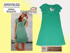 Jerseykleid Damenkleid  Kleid Sommerkleid Baumwolle grün Gr.36-40 NEU