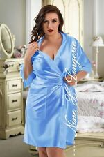 Nine X Satin Dressing Gown Plus Size 8- 26 Bridesmaid Robe Baby Pink