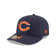 """Chicago Bears Nfl Low Profile Authentic New Era 59Fifty Fitted Hat-""""C"""" Logo Navy"""
