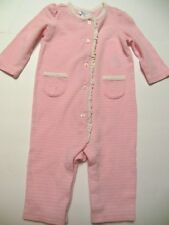 Ralph Lauren Baby Girls 1pc Outfit, 6M, Pink w/white Stripes, Pockets