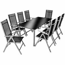 Aluminium 8+1 salon de jardin ensemble sièges meubles table chaise pliables