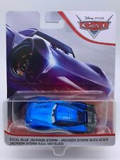 "Disney Pixar Cars Diecast Steel Blue Jackson Storm New BNIB ""Gently Damaged"""