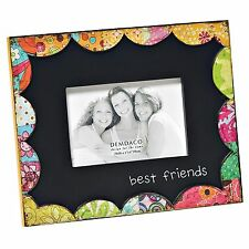 """COLORFUL DEVOTIONS BEST FRIENDS SCULPTURE PICTURE FRAME BY DEMDACO 7.5 """"X 9.5"""""""