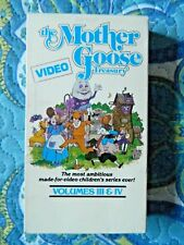 The Mother Goose Video Treasury Vol. 3 & 4 (VHS, 1987) Cheryl Felicia Rhoads