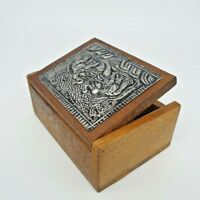 Teak Wood Box Jewelry Storage Wooden Holder Coin Versatile Thai Vintage Trinket