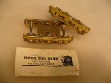 BRASS HO Westside 6-Wheel Heavyweight Pullman Trucks U/P #2 NO RESERVE