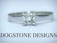 Princess White Gold SI1 18 Carat Fine Diamond Rings