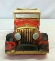 Vintage Inarco Japan red 1918 Chevrolet V8 ceramic car planter E-4432