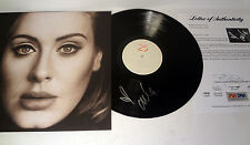 ADELE ADKINS HELLO SIGNED AUTOGRAPH 25 VINYL RECORD ALBUM VID PROOF PSA/DNA COA