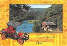 Belgium Baisers d'Ebly Forest Lake Panorama Vintage Car