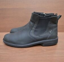 Ecco GoreTex Leather Chelsea Ankle Mens Shoes Boots sz 44 / US 10 / UK 10