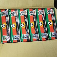 6 BOX of SCORE 1992 SOCCER CARDS, FOOTBALL BOX. BAGGIO, BARESI,KLINSMANN,GULLI