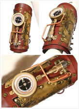 RQ-BL SP160 Real Leather Steampunk Gothic LED Wristband Armband Cuff Bracelet