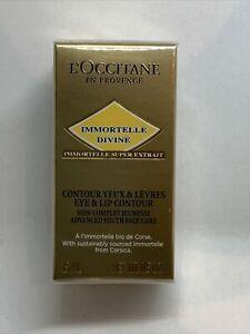 L'occitane Immortelle Divine Eye & Lip Contour Full Size 15ml Brand New Sealed