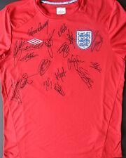 ENGLAND Multi Signed FOOTBALL SHIRT Rooney, Terry, Gerrard, Lampard, Cole, COA