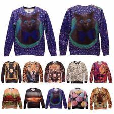 Animal Print Long Sleeve Regular Size T-Shirts for Men