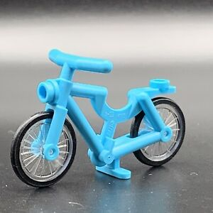 Lego Minifigure Riding Cycle Bicycle Teal