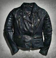 Harley Davidson Womens LIMITED Overdyed Goatskin Leather Jacket 97080-15VW S M L