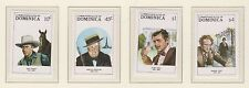 DOMINICA STAMP SET MNH 1988 MOVIE STARS OF STAGE & SCREEN CLARK GABLE ETC