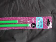 "Cornerstone Products single point knitting needles, plastic, size 15, 13"""