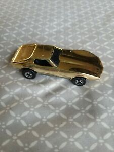Vintage Gold Chrome RARE Hot Wheels 1975 Corvette STINGRAY