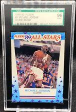 1989 Fleer Michael Jordan Sticker - SGC 96 like PSA 9