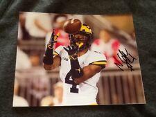 Nico Collins Higdon autographed Michigan Wolverines Football 3 8X10 PHOTO lot