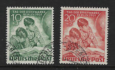 BERLIN : 1951 Stamp Day  set SGB80-1 fine used