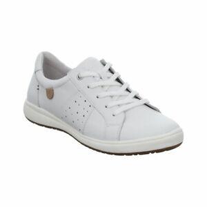 Josef Seibel Caren 01 Ladies White Leather Lace Up Shoes