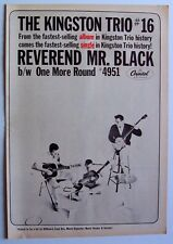 THE KINGSTON TRIO 1963 vintage POSTER ADVERT REVEREND MR BLACK