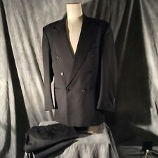 Double Breasted Torriani Men's Dark Grey 2 pc. Suit From Todays Man 39L/w32