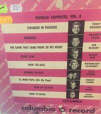 Popular Favorites Vol.8 Columbia LP Record 1954