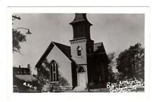 Ia - Guthrie Center Iowa Rppc Photo postcard Baptist Church