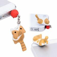 3.5mm Anti-Dust Earphone Jack Plug Cheese Cat Stopper Cap For Cell Phone