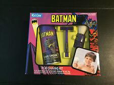 BATMAN Kid Care 1992 Vintage PLAY SHAVING KIT MIP Cream Brush